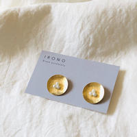 Circle pearl brass / ピアス / イヤリング