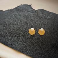 Hexagon × pearl / ピアス / イヤリング