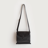 """sack"" shoulder bag   ( black / d.brown )"