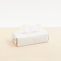 """WHITE PAPER"" leather tissue box case"