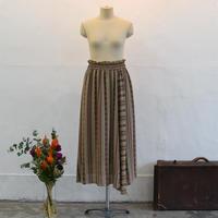 No.1908019 トルコIpeker社製エスニックプリント アシンメトリースカート Made in Japan