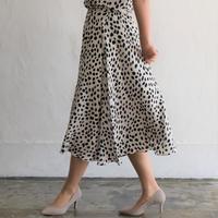 No.1912030 Ipeker社製レオパードプリント ワンタックフレアスカート Made in Japan