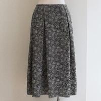 No.1905014 ダイヤドットプリント アシンメトリースカート ブラックxベージュ Made in Japan