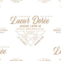 LUEUR DORÈE ARSÈNE LUPIN 4e la BLONDE -金髪婦人- & MASQUE D'OR -黄金仮面-パンフレット