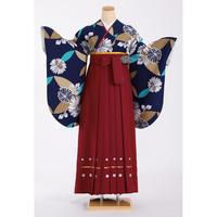 レンタル卒業袴セット  紺/花403 50・WA-608