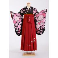 レンタル卒業袴セット MOE-F-KU209 刺繍ローズ618