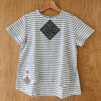 手織り生地 半袖シャツ/Mサイズ