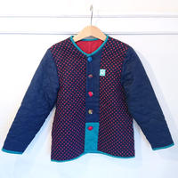 【KIDS】水玉柄パッチジャケット