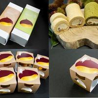 栗の渋皮煮入りロールケーキ(2本)とジェラート(6個)のセット(冷凍発送)