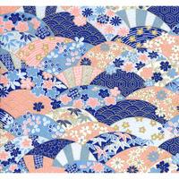 青柄1130-8137  美濃和紙友禅染紙(手染め美濃和紙)