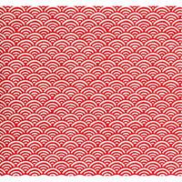 青海波柄1130-Y373青海波赤  美濃和紙友禅染紙(手染め美濃和紙)