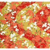 赤柄1130-8373  美濃和紙友禅染紙(手染め美濃和紙)