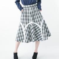 Check Skirt (WHITE)