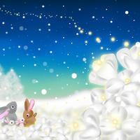 A4イラスト057 Snow Flower