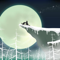 A4イラスト032 Wolf Song