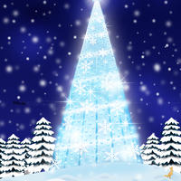 A4イラスト139 Blue Light Christmas