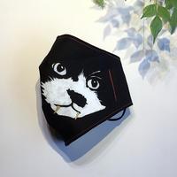ウコン染め抗菌マスク 保護猫・カンカン/糸赤