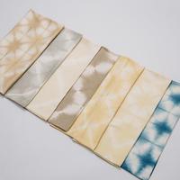 [ストール]草木染めと藍染の絞り染めストール・オーガニックコットン