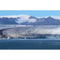 画像データ アイスランド ヴィトナヨークトル氷河とヨークルサルロン氷河湖