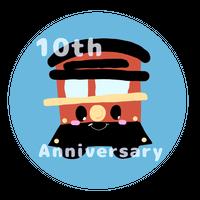 2019年製作:いわくにバス10周年エンブレム(いちすけ号)