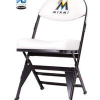 MLB公式ライセンスプレミアム折畳みチェア マイアミ・マーリンズWHT(日本限定カラー)