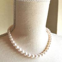 【特別価格】鑑別書付き 本真珠ネックレス8〜8.5mm