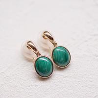 マラカイトのイヤリング(Jewelry Beans)