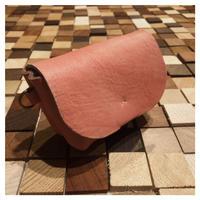 蝦夷鹿革の草木染めポーチ ピンク