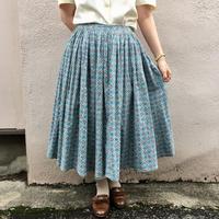 1950's vintage タイル柄テキスタイルスカート