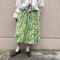 1950's~ フルーツ&リーフ柄ビンテージスカート