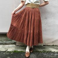 1960's~70's vintage 花柄ボリュームプリーツスカート