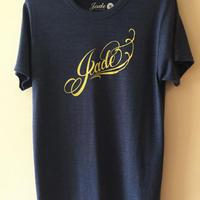 Jade ロゴTシャツ ヘザーネイビー