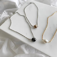 1粒perl necklace