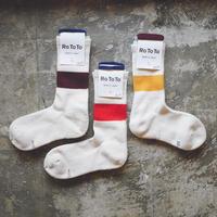 ROTOTO 【 CLASSIC CREW SOCKES - SILK COTTON - 】