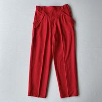 Unique pockets Red pants