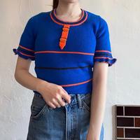 Vivid color summer knit