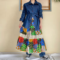 70s Colourful skirt