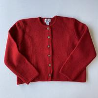 【SALE】80s Red knit cardigan
