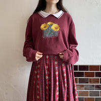 Embroidery flower sweatshirt