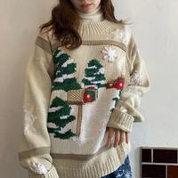 【SHINPIN fixed】Winter landscape embroidery sweater