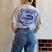 Single stitc flocky print t-shirt