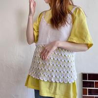 Crochet knit bustier