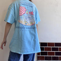 Light blue beach t shirt
