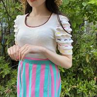 Vintage multi color summer knit