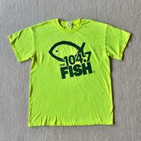 Neon yellow fish printed t-shirt