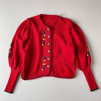[リール掲載]60s red flower embroidery cardigan