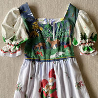 Remake dress with vintage fabric