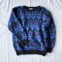【SALE】Mohair blue knit