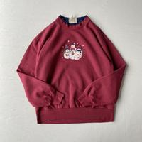 Snowman applique sweatshirt