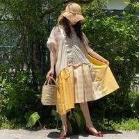 【SHINPIN×jane's vintage】Yellow asymmetry dress